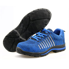 Outdoor Men Steel Toe Lightweight Lace-up Bulletproof Midsole Athletic Hiking Sport Shoes Sneakers