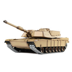 Heng Long 3918-1 1/16 2.4G M1A2 Rc Car Battle Tank Metal Track with Sound Smoke Toy