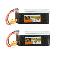 2Pcs ZOP Power 14.8V 1400mAh 65C 4S Lipo Battery XT60 Plug