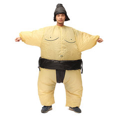 SUMO Fancy Dress Fan Inflatable Costume Suit Party Outdoor Activity Equipment 170cm Unisex Outfit