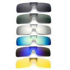 1f9bb8fe4e UV400 Polarized Cilp on Sun Glassess Driving Riding Night Vision Lenses For  Myopia Glasses