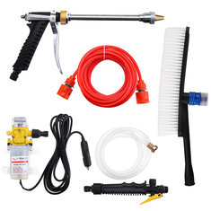 12V Portable 100W 160PSI High Pressure Electric Washer Wash Pump Set