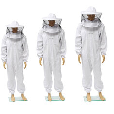 Beekeepers Bee Keeping Cotton Full Protector Suit With Veil Hat Hood Bee Suit XL XXL XXL