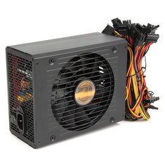 1800W Mine Chassis Power Supply Rig Coin Miner Black Conversion