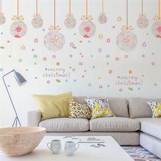 Christmas Party Home Decoration Removeable Wall Stickers Toys Oranment For Kids Children Props