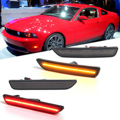 e503ce95769b Front Rear LED Side Marker Lights Turn Signals Lamps Smoked Pair for Ford  Mustang 2010