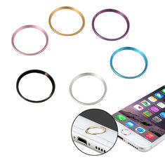 Metal Home Button Sticker Circle Ring For iPhone 6S