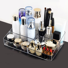 Clear Acrylic Cosmetic Organizer Makeup Tool Container Holder Nail Polish Lipstick Display