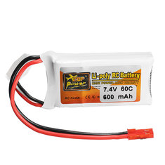 ZOP Power 7.4V 600mAh 60C 2S Lipo Battery JST Plug
