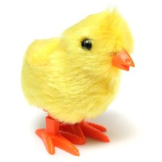 Children Kid Yellow Fuzzy Chick Educational Funny Wind Up Toy