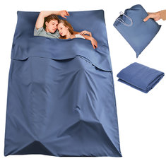 180 x 210CM Double Sleeping Bag Portable Liner Polyester Pongee Folding Travel Sleeping Mat