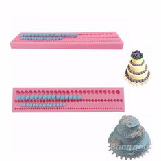 3D Bead Pearl Silicone Fondant Mold Cake Edge Decoration