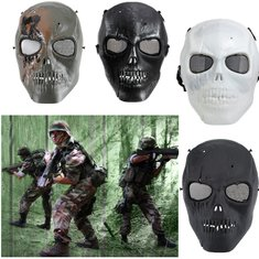 Halloween Skull Skeleton Paintball Full Ghost Face Game Camouflage Mask