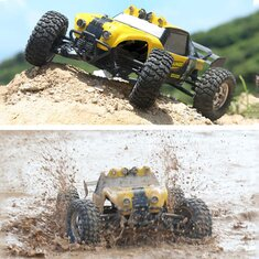 HBX 12891 1/12 4WD 2.4G Waterproof Hydraulic Damper RC Desert Buggy Truck with LED Light