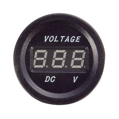 Car Digital Blue LED Display Voltmeter Voltage Meter 8-30V W/ 5A