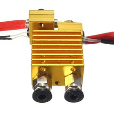 Dual Head Extruder V6 Hot End Extruder With Wire For 3D Printer