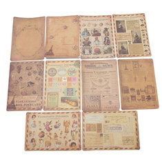 10 Sheet Vintage Paper Stickers DIY Scrapbooking Photo Album Diary Craft Decor
