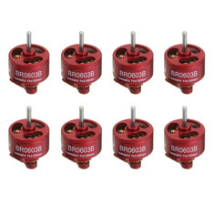 8 PCS Wholesale Racerstar 0603 BR0603B Fire Edition 16000KV Brushless Motor 1-2S For RC Drone