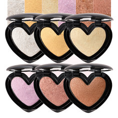 6Colors Сердце Highlighter Eye Shadow Face Glow Powder Макияж