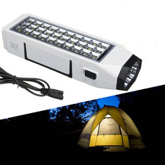 Outdoor Portable 38 LED Flashlight Torch Rechargeable Emergency Camping Lantern
