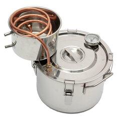 Honana 2 GAL/8L Copper Moonshine Ethanol Alcohol Water Distiller Stainless Boiler Kitchen Brewing Wine Making Tools