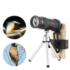 8-24x30 Zoom Monocular BAK4 Optic Lens Telescope For Outdoor Travel Phone Shooting