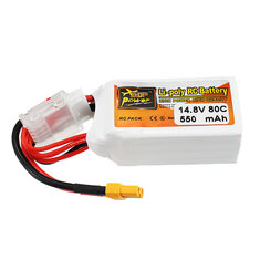 ZOP Power 14.8V 550mAh 80C 4S Lipo Battery XT30 Plug