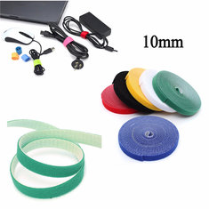 10mm 4.5m Multifunctional Self Adhesive Magic Stick Loop Tape Fasten Stick Cable Tie
