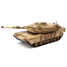 ToogLi 1/24 27MHZ 40CM US M1A2 RC Car Tank With Light Sound Military Vehicle Model Toys