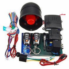 L202 LED Universal One-Way Smart Anti Theft Remote Control Car Alarm System