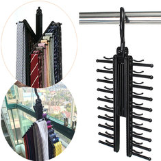 360 Degree Rotatable Adjustable Belt Hanger Tie Rack Scarf Holder