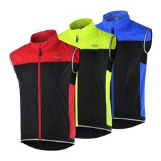 ARSUXEO Cycling Sleeveless Jacket Vest Waistcoat Windbreaker Ultralight Breathable For Running