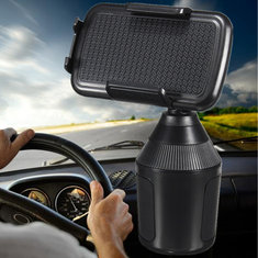 Car Cup Mobile Phone Holder 360° Adjustable Mount Clip for iPhone Xs Xs Max XR
