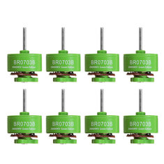 8 PCS Wholesale Racerstar 0703 BR0703B Green Edition 20000KV Brushless Motor 1S For RC Drone