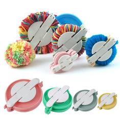 4 Sizes DIY Pompom Maker Fluff Ball Weaver Needle Craft Knitting