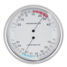 Two In One Wall Hanging Barometer Weather Thermometer Hygrometer Home 132mm