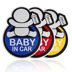 42f42836fb70 Baby in Car Stickers Aluminum Auto Tail Window Decal Warning Safety Sign  Decal