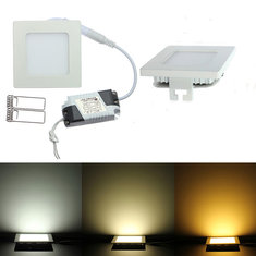 Dimmable Ultra Thin 9W LED Ceiling Square Panel Down Light Lamp