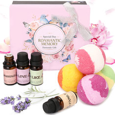 Skymore Aromatherapy Essential Oils Bath Bomb Set