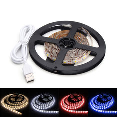 DC5V 2M Pure White Warm White Red Blue 2835 SMD Waterproof USB LED Strip Backlight for Home
