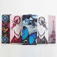 Drawing Painting PU Leather Vertical Flip Case Cover For BlackBerry Priv