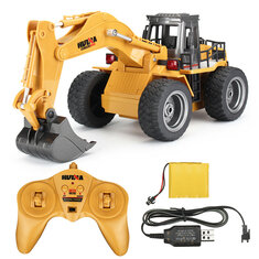 HuiNa Toys 1530 1/18 2.4G 6CH Rc Car Alloy Excavator Engineering Vehicle W/ Light Sound Model