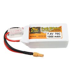 ZOP Power 7.4V 1000mAh 70C 2S Lipo Battery XT30 Plug