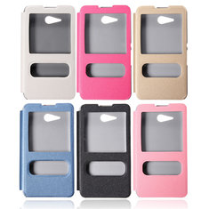 View Window Flip Leather Stand Cover Case For Sony Xperia E4g Dual