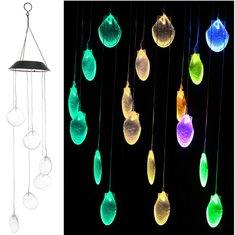 Solar Power LED Wind Chime Light Color Changing Home Garden Wedding Decor - Solar-Power-LED-Wind-Chime-Light-Color-Changing-Home-Garden-Wedding-Decor , Solar Power LED Wind Chime Light Color Changing Home Garden Wedding Decor