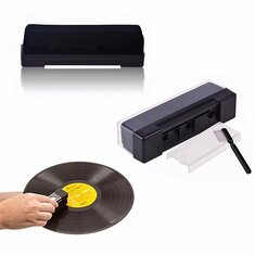 Record Cleaning Kit Velvet Brush Stylus Cleaner Anti Dirt Dust Brush Black