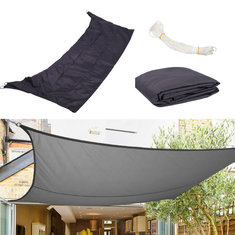 3m x 2m Tent Sunshade Sail Garden Waterproof Canopy Awning Screen 98% UV Black Anthracite