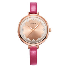 ZIVOK 8007 Flower 3D Dial Case Display Women Watches