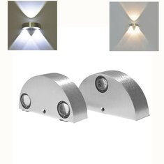 9W 3 LED Wall Lights Warm White/White Up & Down Lamp Sconce Home Bedroom