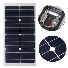 Elfeland® SS-20W 12V Mono Semi-flexible Solarpanel With Sunpower Chip For Battery Charger Boats Cara